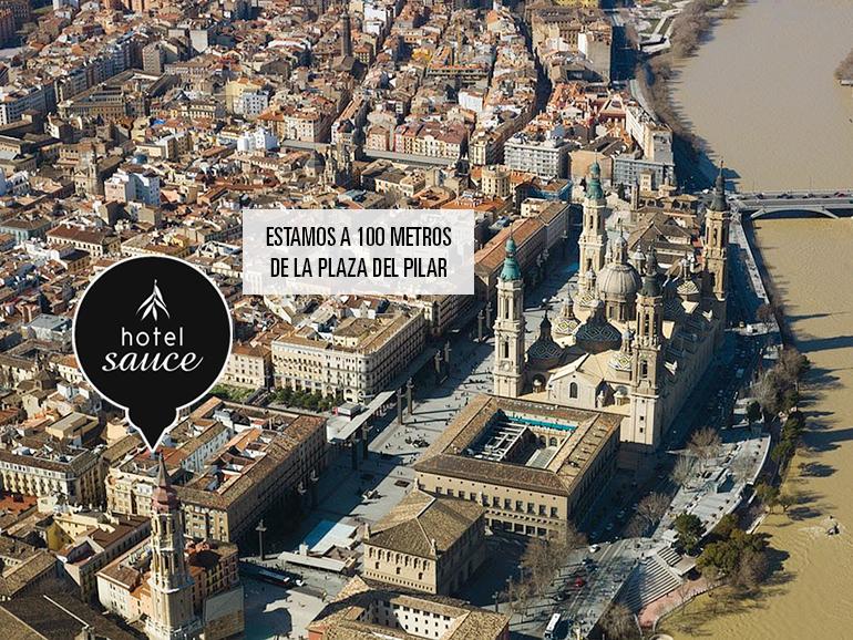 Hotel auce a 100 metros de la Plaza del Pilar