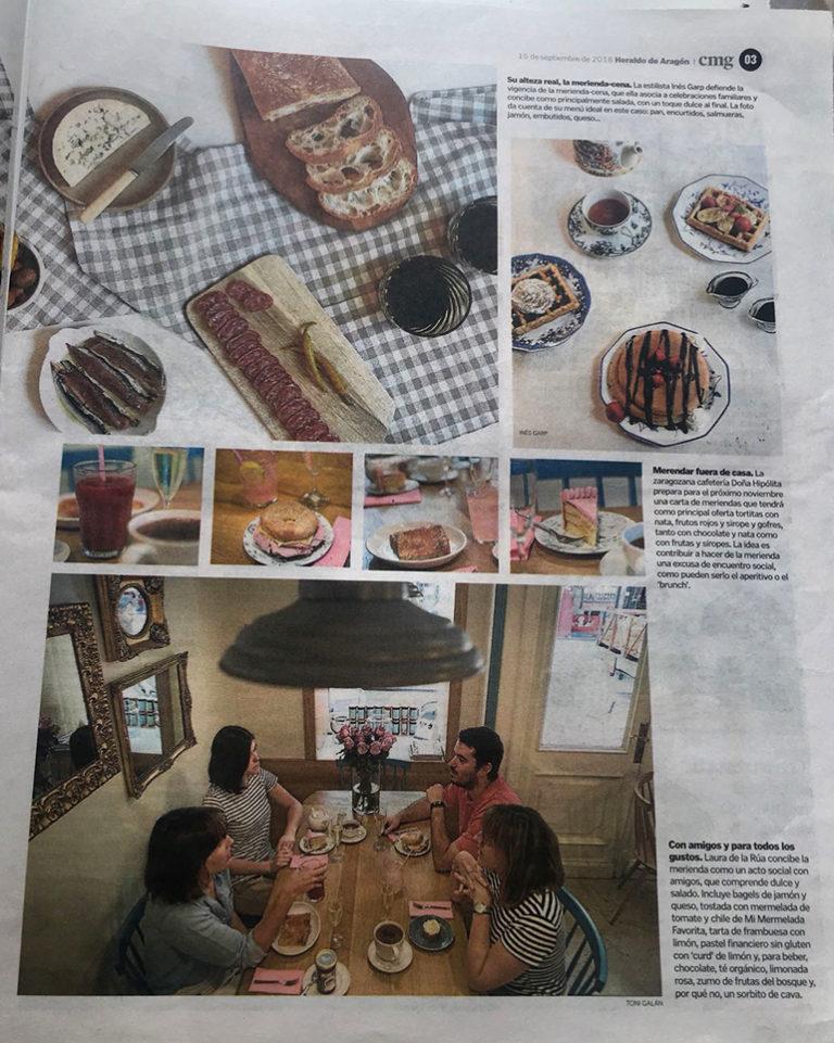 Les goûters de la cafétéria de l'Hôtel Sauce  dans le centre de Saragosse, à côté de Pilar
